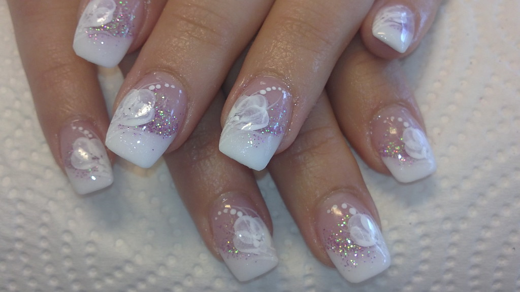 Colors And Strips Nail Tip Designs French 13
